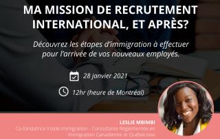 Recrutement Internationale